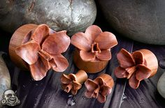 UrbanStar Wood Orchid Earrings
