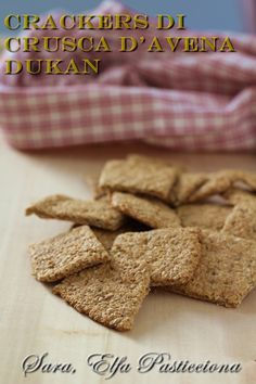 Crackers, Healthy Snacks, Healthy Recipes, Fitness Diet, Biscotti, Finger Foods, Italian Recipes, Food And Drink, Cooking