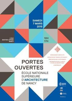 Affiche des Portes ouvertes 2015 Ecole Design, Photo Illustration, Illustrations, Brochure Design, Graphic Design Inspiration, Poster Prints, Web Design, Banner, Architecture