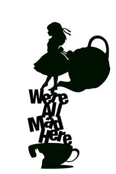 Alice in Wonderland Vinyl Decal FREE SHIPPING (many colors available)