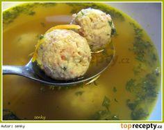 Uzený vývar s uzenými knedlíčky Ham, Potato Salad, Mashed Potatoes, Recipies, Food And Drink, Menu, Soup, Eggs, Cooking