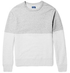 J.Crew - Two-Tone Slubbed Cotton Sweatshirt - $85