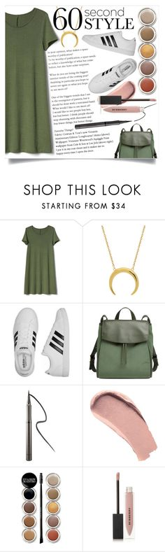 """Wait for me to come home.."" by its-siobhan-again ❤ liked on Polyvore featuring Gap, adidas, Skagen, Burberry, Giorgio Armani, tshirtdresses and 60secondstyle"