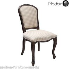 boudoir chair with cream check fabricThis stunning Boudoir occasional chair is a beautiful piece of occasional furniture The wood frame is finished