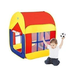 BATTOP Large Space Two-Door Children Game Play House Great for Indoor and Outdoor