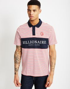 Billionaire Boys Club Monaco Polo Shirt Red Stripe   Shop men's street wear clothing at The Idle Man