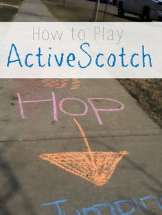 Ditch the Hopscotch! #ActiveScotch is Where It's At! - Easy, Fun and Creative Kids Activity