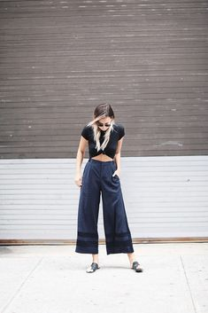 Popular Brand Sass&bide Pants Black Quell Summer Thirst Women's Clothing