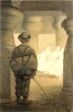 Kittelsen-067 - Tre Citroner   ***I'm keeping my eye on those ghostly looking figures....