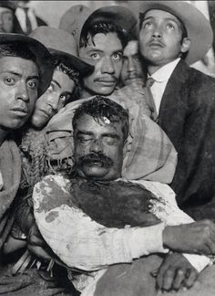 """Death of Emiliano Zapata, 1919. Murdered by Carranza, the Caudillo del Sur was part of the Mexican """"betrayed"""" Revolution."""