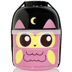 Cute 2 Tier Kids Bento Lunch Box Food Container Baby Ninja Owl Japanese China Lb