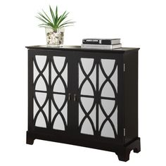 Powell Furniture Console Cabinet with Mirrored Glass Door 399 Console Cabinet, Buffet Cabinet, Glass Cabinet Doors, Mirror Cabinets, Wood Cabinets, Glass Doors, Console Tables, Accent Cabinets, Mirror Glass
