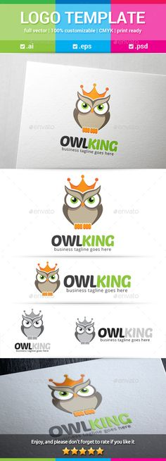 Buy Owl King Logo by on GraphicRiver. Owl King logo is a cute brown owl bird wearing royal crown on it's head. Suited for any business brand or mascot. Bird Paper Craft, Bird Crafts, Bird Paintings On Canvas, Bird Artwork, Red Bird Tattoos, Avatar, Owl Logo, Bird Sketch, Mosaic Birds