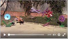 Yard Garden Art Raymond Guest Artist Recycled Salvage Design http://www.recycledsalvagedesign.com https://www.facebook.com/raymondguest1163/videos/vb.100001648692147/1078809975517282/?type=2&theater