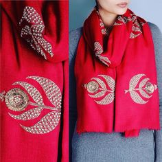 "Richa on Instagram: ""#indianwear #shopping #ethnic #handmade #handwork #embroidery #embellished #red #richa #richadesigns #shop #shawl #girls #motifs #musthave #byos #ootd #craft #colors #delicate #fashionforward"""