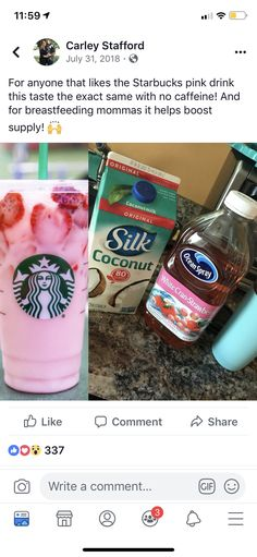 Increase milk supply with copycat Starbucks pink drink - - Increase milk supply with copycat Starbucks pink drink Breastfeeding Increase milk supply with copycat Starbucks pink drink Diy Starbucks Pink Drink, Starbucks Secret Menu Drinks, Dairy Free Starbucks Drinks, Starbucks Smoothie, Vegan Starbucks, Starbucks Hacks, Starbucks Coffee, Smoothie Drinks, Healthy Smoothies