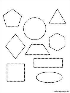 Kids educational or homeschool geometric shapes- charts
