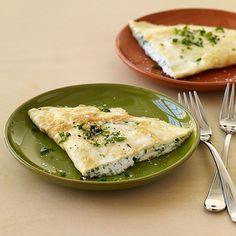 WeightWatchers.fr : recette Weight Watchers - Omelette au chèvre et aux herbes