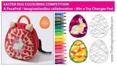 Win a PacaPod Toy Changer Pod by entering this Easter Egg colouring competition with templates designed by The ImaginationBox. Click 'visit' to download your colouring templates
