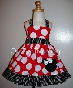 This Etsy shop has tons of cute Minnie dresses! Perfect for the Disney trip!