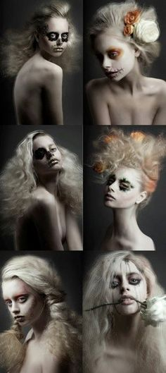 Photoshoot & makeup idea: High fashion Day of the Dead