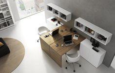 mesas madera con blanco