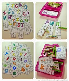 Nice ideas for beginning to work with letters.
