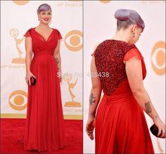 V Neck Lantejoula Voltar longo de chiffon Vestidos Kelly Osbourne Red Carpet Vestidos celebridade Red Plus Size em Vestidos Inspirados em Celebridades de Roupas & acessórios no AliExpress.com   Alibaba Group