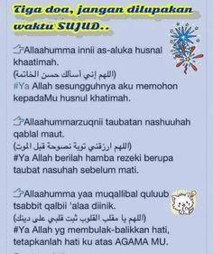 doa waktu sujud