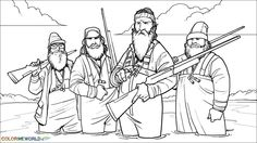 duck dynasty coloring pages - Google Search