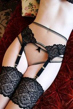 Nouvelle Amour High Waist Garter Thong