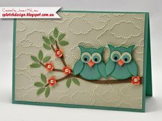 Splotch Design - Jacquii McLeay Independent Stampin' Up! Demonstrator: 2nd Colour Challenge! Owl Builder Punch
