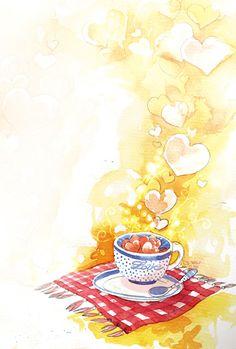 a tea cup for valentine by tuyetdinhsinhvat.deviantart.com