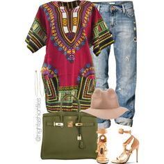 Afrocentric by highfashionfiles on Polyvore featuring polyvore fashion style H&M Dean Harris RHYTHM Tom Ford Hermès