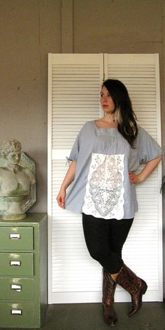 XLarge 1X 2X 3X upcycled clothing plus size by lillienoradrygoods, $62.50