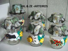 potes decorados com biscuit para mantimento - Pesquisa Google