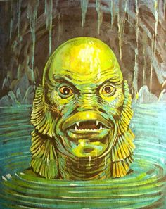 zgmfd:  Creature From The Black Lagoon iron-on (1970s)