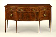 Serpentine-Front Sideboard  United States, New York  1785-1800, LACMA Collections Online