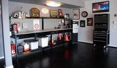 Next home project... Black painted floors and trip to Sears for a Craftsman black tool storage!