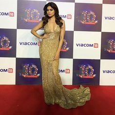 #ShamitaShetty About last night  wearing a Beautiful @Falguni shanepeacockindia gown for @viacom18 party #redcarpet #glam #gold #glitter #fun  The post Shamita Shetty pic About last night wearing a Bea Shamita Shetty hot Instagram appeared first on AioInstagram.