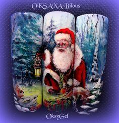 ...un Babbo Natale realizzato con gli OksyGel color superior...