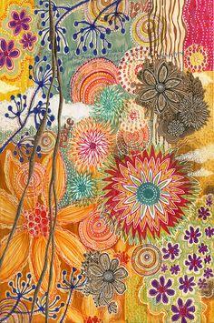 Floral pattern zentangle