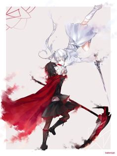 RWBY Red and White Rose by batensan.deviantart.com on @deviantART