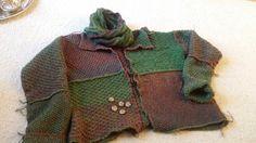 Quadrate-Jacke aus 12 Einzelteilen - schnell gemacht Big Knits, Knit Crochet, Crochet Sweaters, Weaving, Wool, Knitting, Womens Fashion, Creative, Pattern