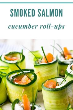 Smoked Salmon Cucumber Appetizer Bites are a beautiful appetizer for the holidays or a get together. Thinly sliced english cucumber is topped with goat cheese, chives and smoked salmon and rolled up into a bite sized starter or even an addition to brunch. // acedarspoon.com #smokedsalmon #salmon #fish #seafood #appetizer Cucumber Appetizers, Smoked Salmon Appetizer, Appetizer Dips, Best Appetizers, Appetizer Recipes, Seafood Dishes, Seafood Recipes, Cucumber Roll Ups, Healthy Dinner Recipes