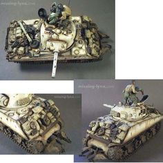 M4 Sherman PART2 by: Daryl Dancik From: missing-lynx #scalemodel #plastimodelismo #miniatura #miniature #miniatur #hobby #diorama #humvee #scalemodelkit #plastickits #usinadoskits #udk #maqueta #maquette #modelismo #modelism