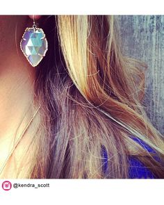 Kendra Scott Light-reflecting facets enhance the iridescent shine of drop earrings set within golden, sculpted frames. plate/agate or plate/opaque glass. By Kendra Scott; Cute Jewelry, Jewelry Box, Jewelery, Jewelry Accessories, Angel Wing Earrings, Stud Earrings, Kendra Scott Jewelry, Fancy, My Style
