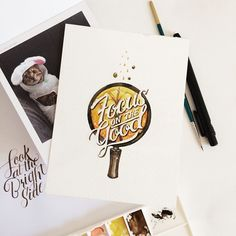 Watercolor Lettering Quotes by June Digan