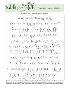 Cantoni Pro Calligraphy Font by DebiSementelli on Etsy