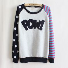 Pow! Sweatshirt via ShopChic. Click on the image to see more!